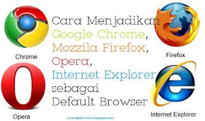 Cara Menjadikan Chrome, Mozilla, Opera dan IE sebagai Default Browser