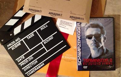 """¡Gracias Amazon España por vuestros regalos! - Terminator 2 + Claqueta de cine como mi logo de """"el fancine"""" - ÁlvaroGP Social Media & SEO Strategist - el troblogdita - el fancine - Amazon España"""