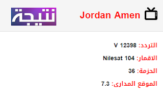 تردد قناة أمن الأردن Jordan Amen الجديد 2018 على النايل سات