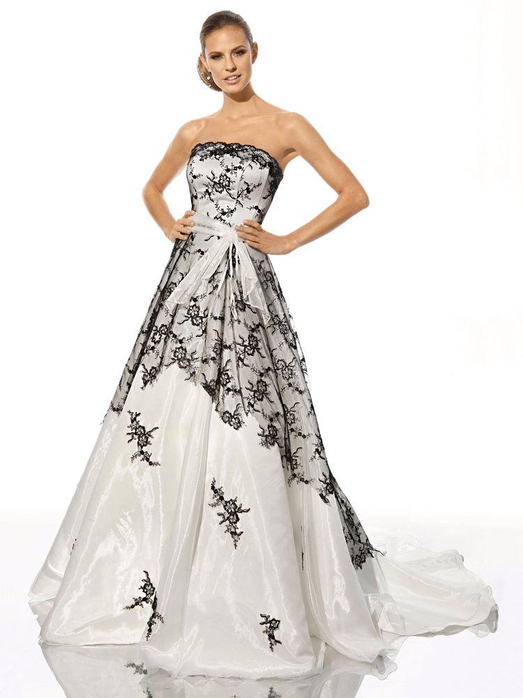 Robes de mariage robes de soir e et d coration la robe de for Robes noires et blanches pour les mariages