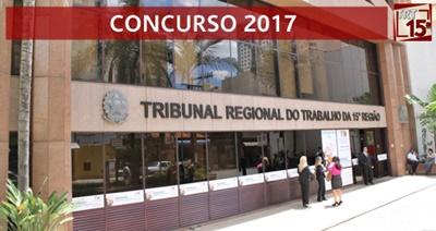 Concurso TRT 15ª região SP 2017