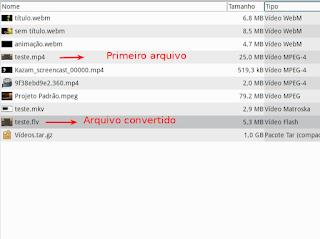 Winff conversor de arquivos multimídia