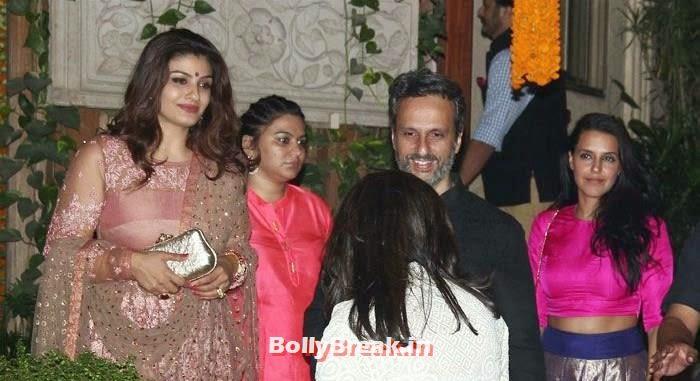 Raveena Tandon, Anil Thadani, Neha Dhupia, Photos from Amitabh Bachchan's Diwali Bash 2014