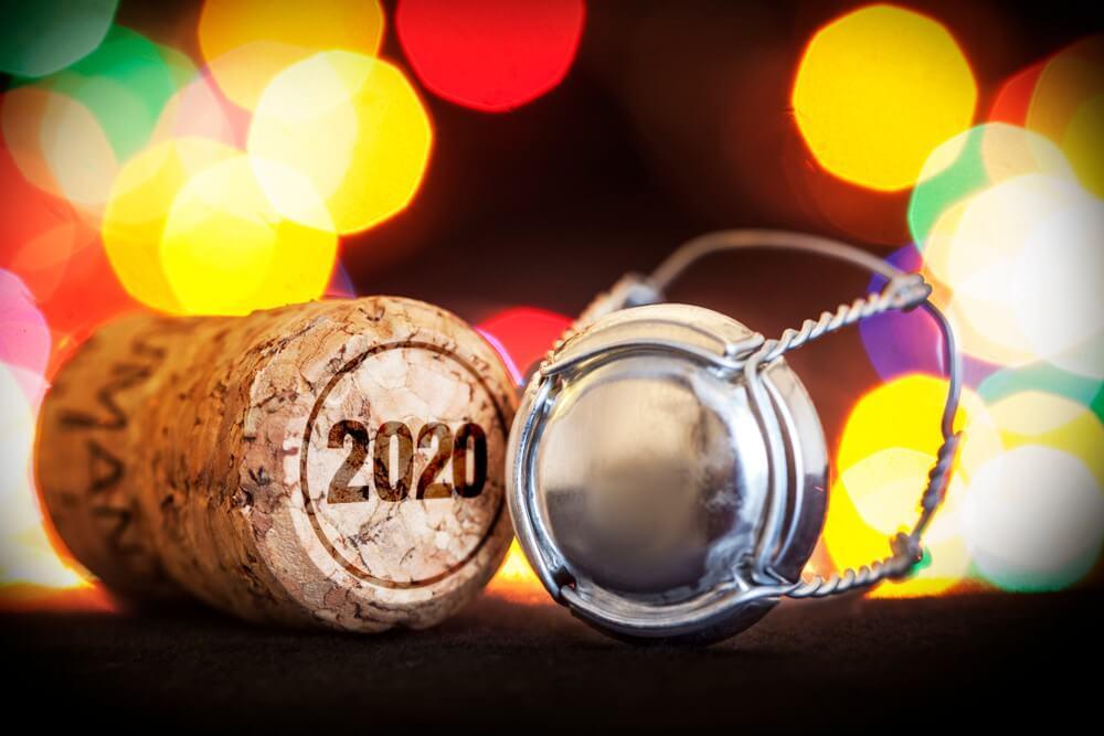 2020, Happy New Year, Lighting, Night