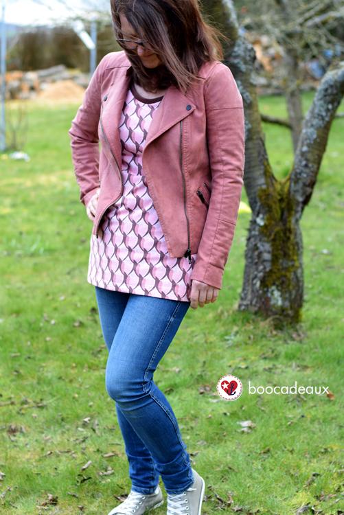 Rosa P. Tunika aus Raxn Tresblüten in rosa