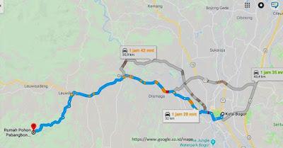 Rute Pabangbonn dari Bogor Kota menggunakan Kendaraan