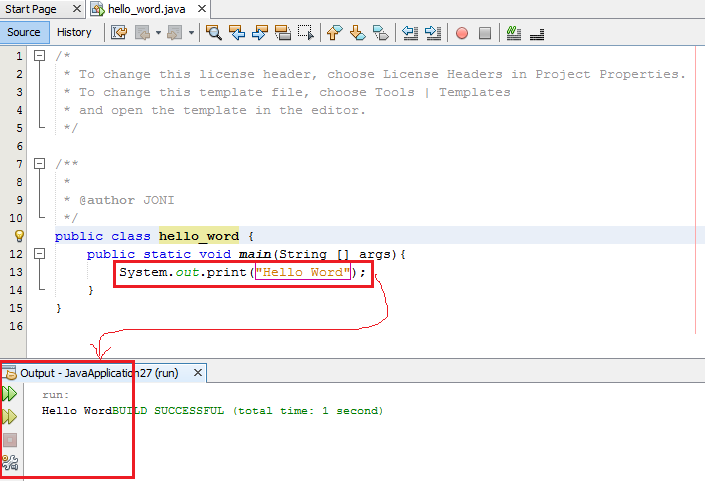 14 - Kode Pertama Pemrograman Java