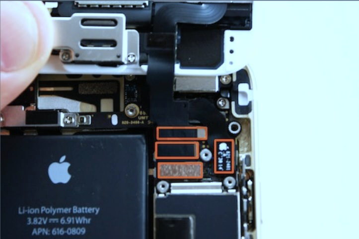 electronic equipment repair centre apple iphone 6 disassembling procedure iphone battery