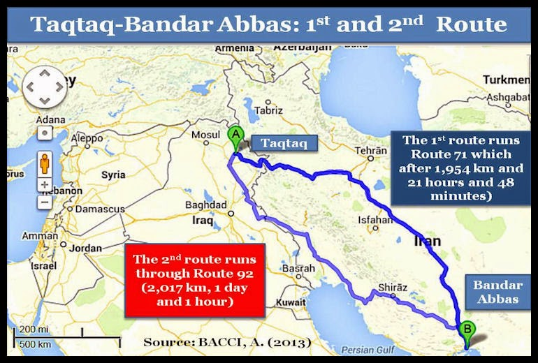 BACCI-Taqtaq-BandarAbbas-1st-and-2nd-Route-Aug-2013