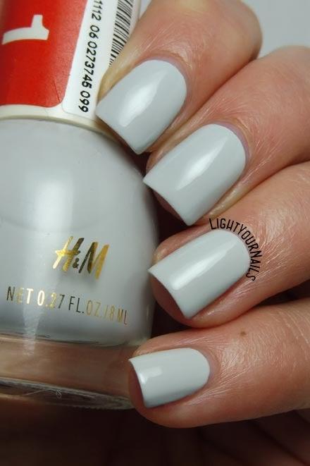 Smalto grigio H&M Paper Ash grey nail polish #HM #unghie #nails