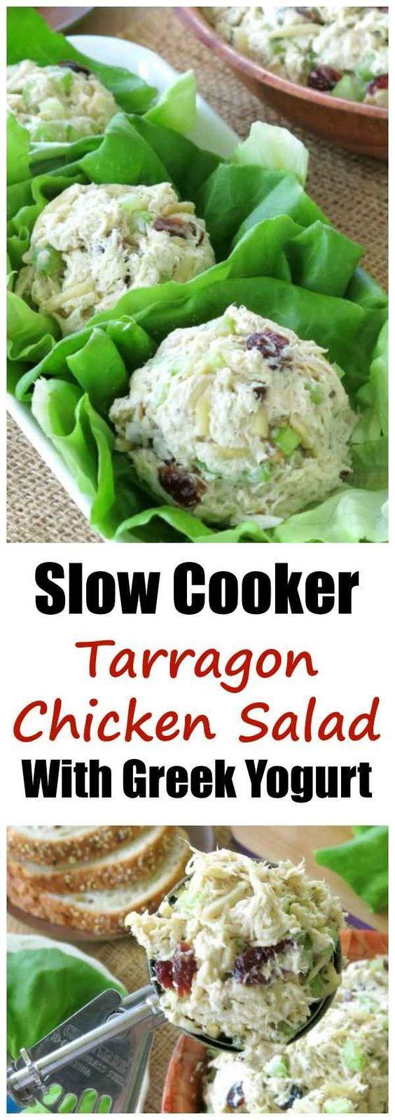 Slow Cooker Tarragon Chicken Salad
