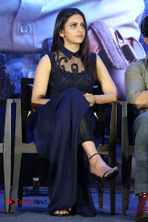 Actress Rakul Preet Singh Stills in Beautiful Blue Long Dress at Dhruva Salute to Audience Event  0079.JPG