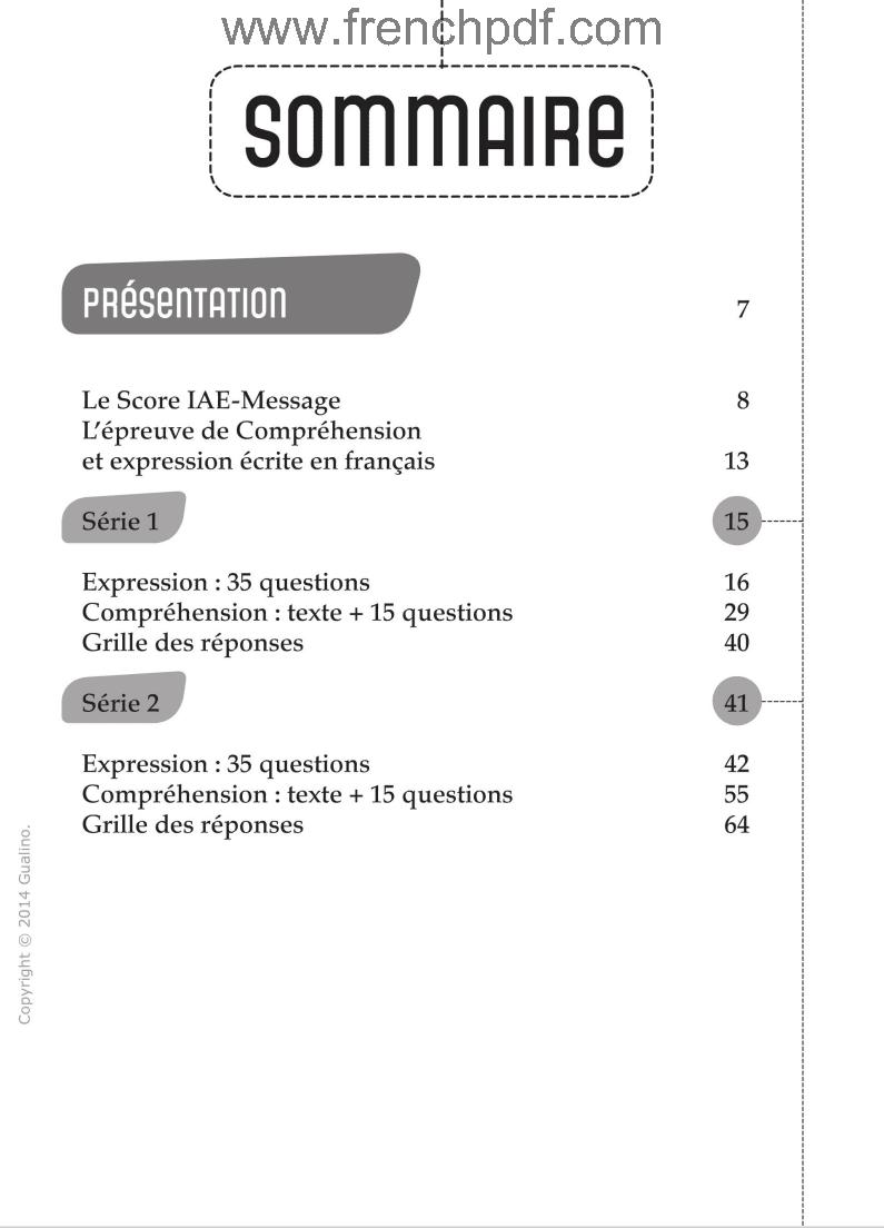 score iae message annales gratuit pdf