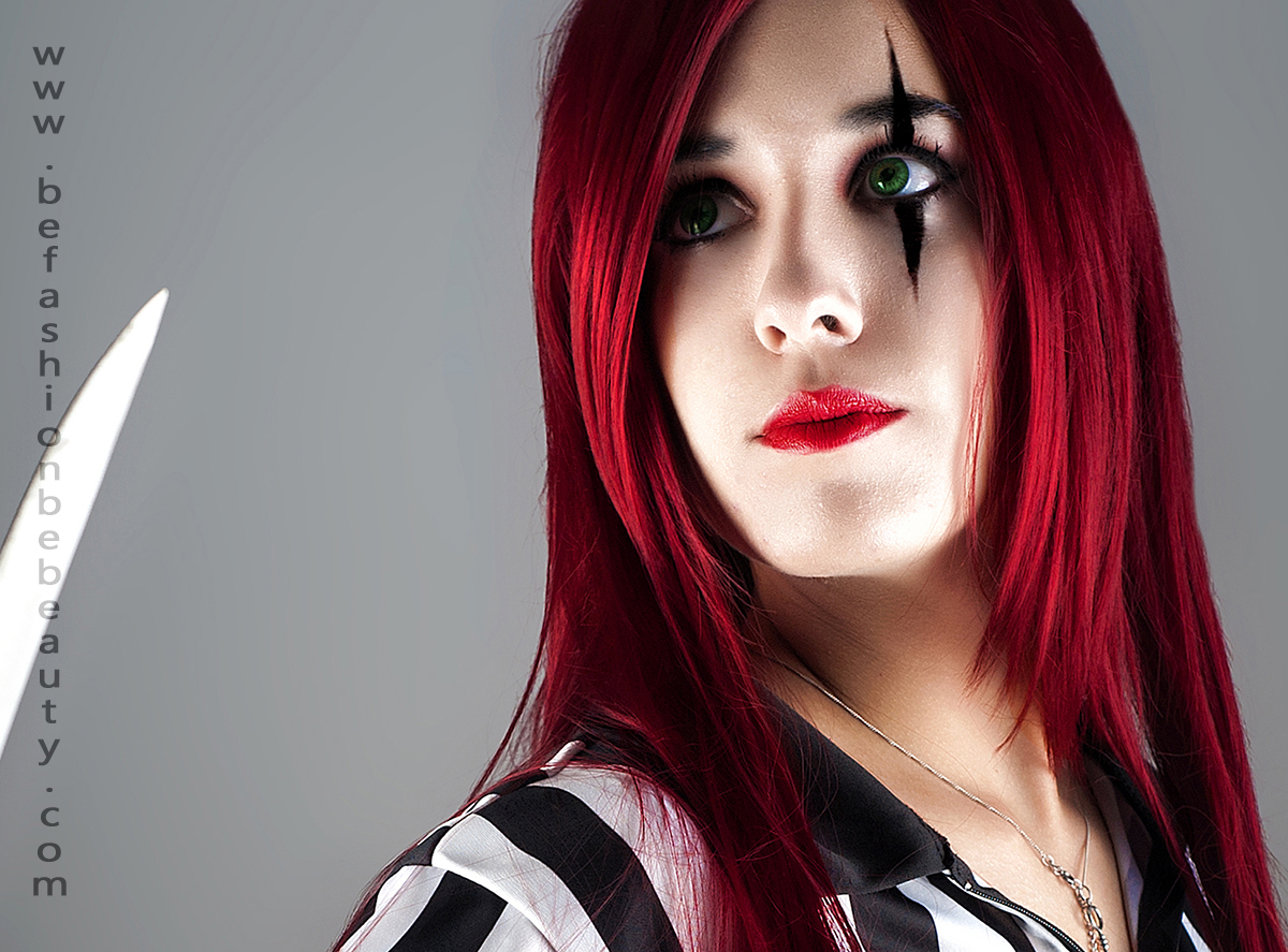 "Maquillaje paso a paso con ""Be fashion. Be beauty."" : 004 (Katarina/Cosplay, League of Legends)"