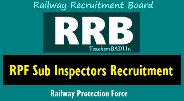 rrb recruitment of sub inspectors in railway protection force(rpf),rrb rpf sub inspectors recruitment 2018,online application form,how to apply?,railway recruitment board rpf si recruitment 2018,rrb railway protection force si posts recruitment
