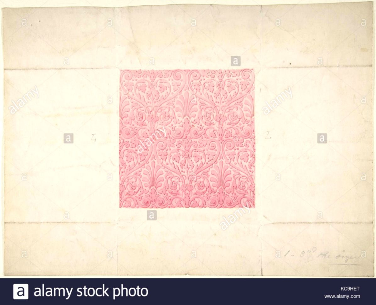 Design for Ornament possibly Flocked Wallpaper Anonymous