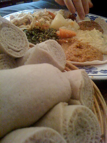 Making Injera Bread of Ethiopia and Eritrea