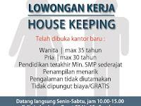 lowongan kerja house keeping di surabaya