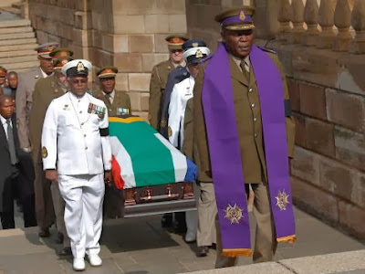 Photos: Nelson Mandela's body lying in state in Pretoria South Africa