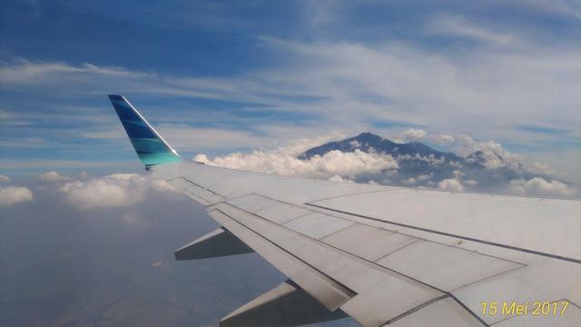View dari jendela Garuda Indonesia