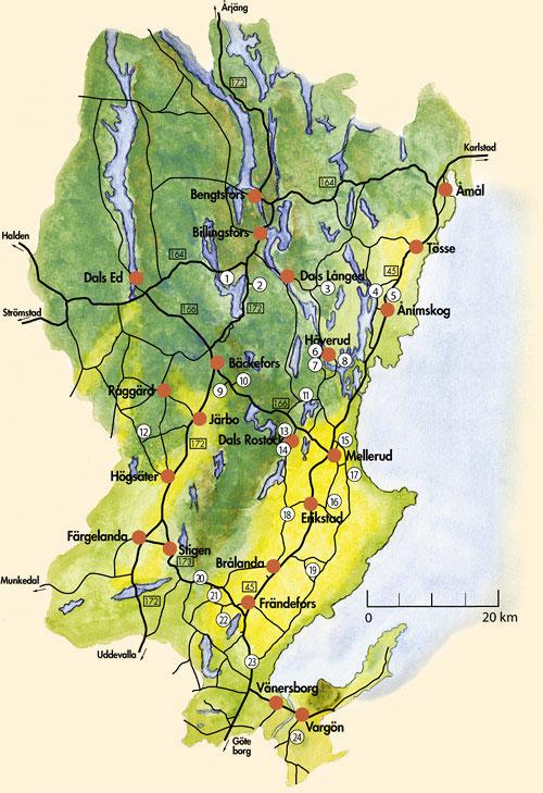 karta dalsland Karta över Dalsland Regionen Bild   Karta över Sverige, Geografisk  karta dalsland