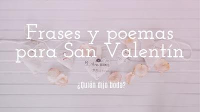 Frases y poemas sobre San Valentín