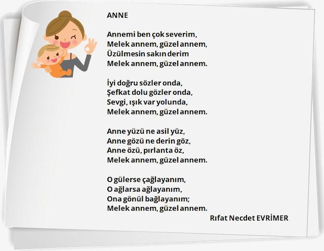 anneler günü şiir örnekleri