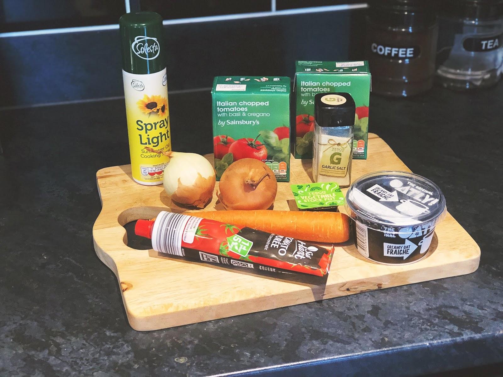 Vegan Cream of Tomato Soup Ingredients