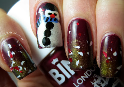Christmas Nail Art featuring Indy's Indies Crushed Candy Cane