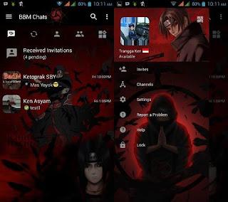 Download BBM Mod Itachi v3.0.1.25 Apk Terbaru