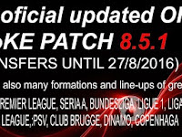 Option File PES 2016 untuk SMoKE Patch 8.5.1 update 27-08-2016