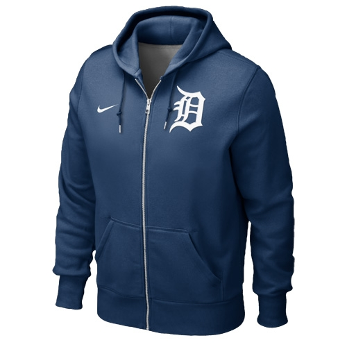 d7305af2 Tigers Nike Clssic Full-Zip Navy Hoodie - Ideal for any weather condition,  this convenient Tigers zip-up from Nike will will combat the cold  temperatures on ...