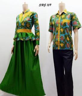 model baju batik couple gamis muslim