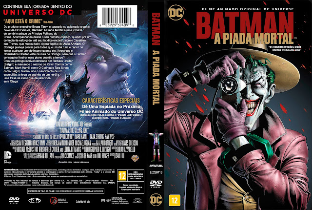 Capa DVD Batman A Piada Mortal