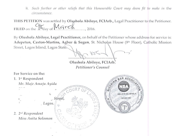 12 Toke Makinwa Files Divorce Petition Against Maje Ayida Entertainment