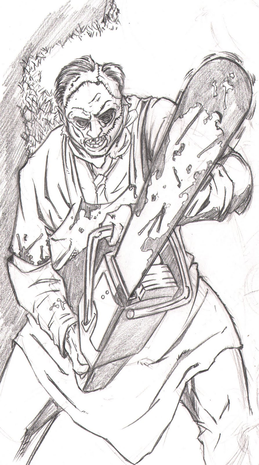 leatherface coloring pages