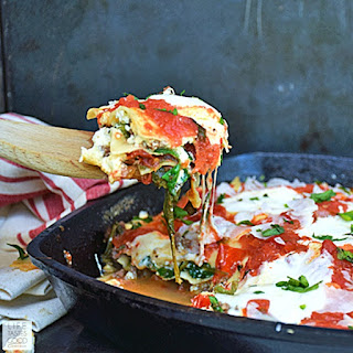 Cheesy Skillet Lasagna | by Life Tastes Good