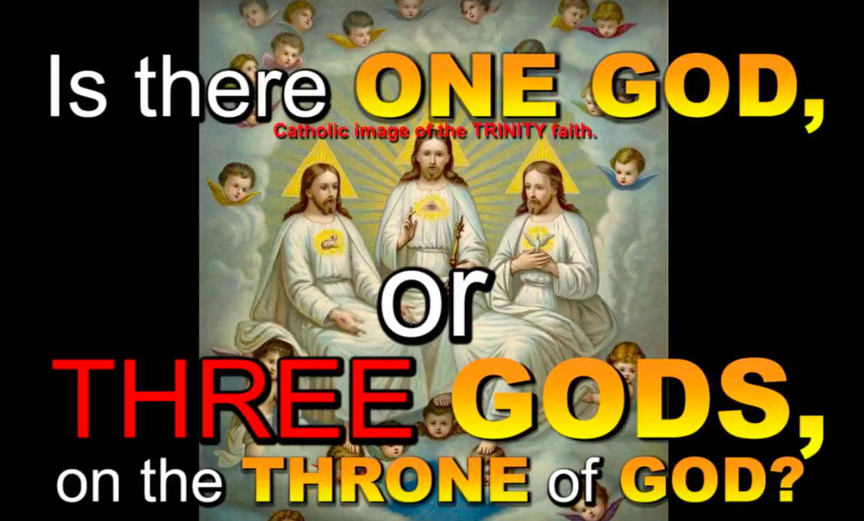 Is there ONE GOD, or THREE GODS, on the THRONE of GOD?