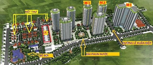 Phối cảnh tổng thể dự án Mipec View City Kiến Hưng