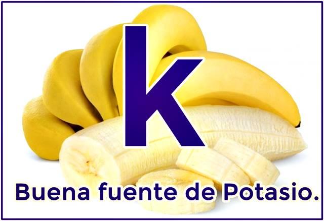 El banano como fuente de potasio es esencial para los seres humanos