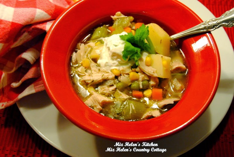 Chicken Vegetable Soup at Miz Helen's Country Cottage