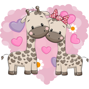Giraffe Love Pair
