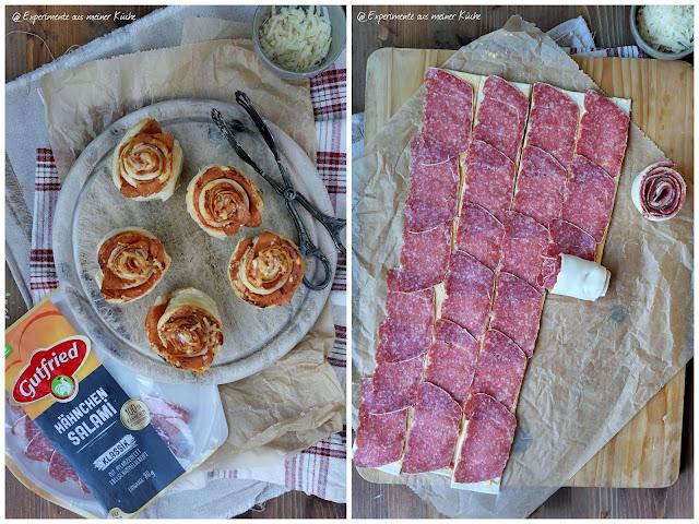 Salami-Blätterteig-Rosen   Rezept   Kochen   Snack   Fingerfood   Essen