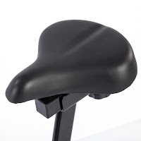 4-way adjustable cushioned seat on Sunny Health & Fitness SF-B1203 Indoor Cycle