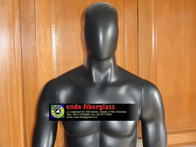Patung Mannequin | Manekin Full Body Pria 'Black Edition'