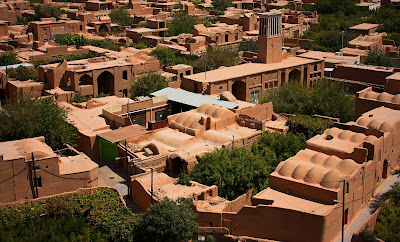 Adobe houses and wind-towers of Yazd.
