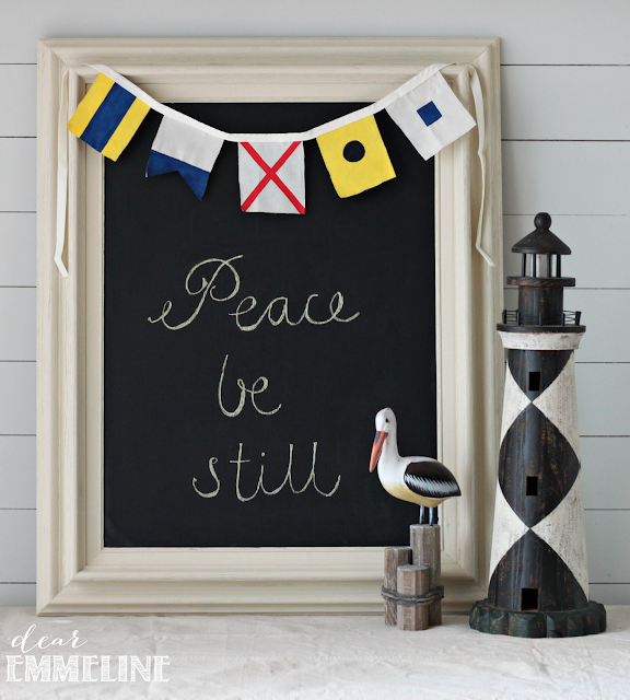DIY Maritime Flag Bunting - #crafts #diy #nautical #bunting #maritime #flag