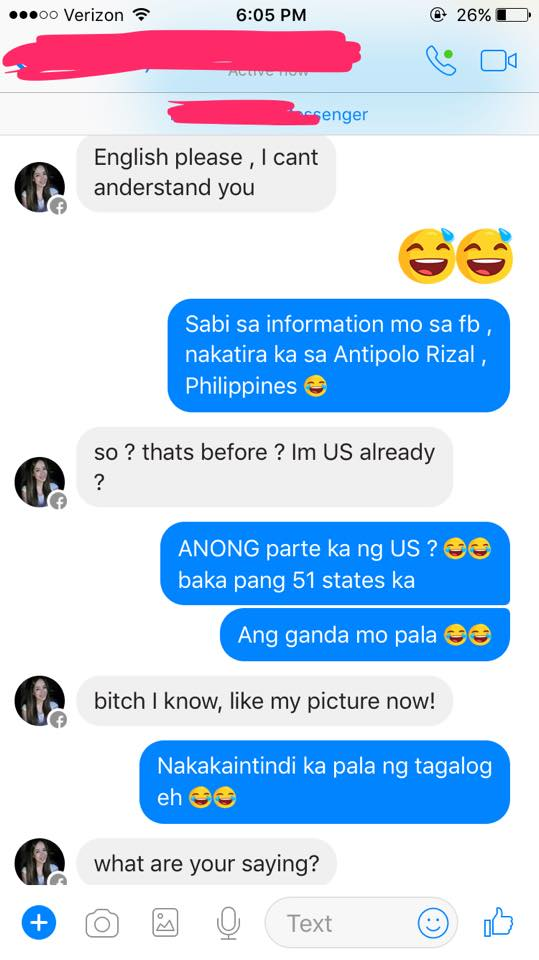 This Girl Randomly Chatted With A Stranger Claiming to be From the US - How She Acted Was Hilarious!