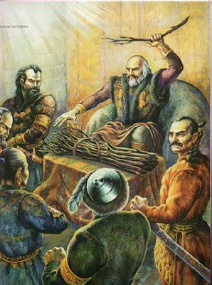 Кубрат хан и его 5 сыновей Батбаян, Котраг, Аспарух, Кубер, Алцек