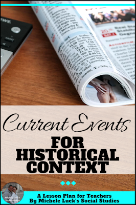 Teaching with current events in the middle and high school classroom can be a great way to get students engaged and to teach them historical context. Read these tips for getting started at any time of the school year. #teaching